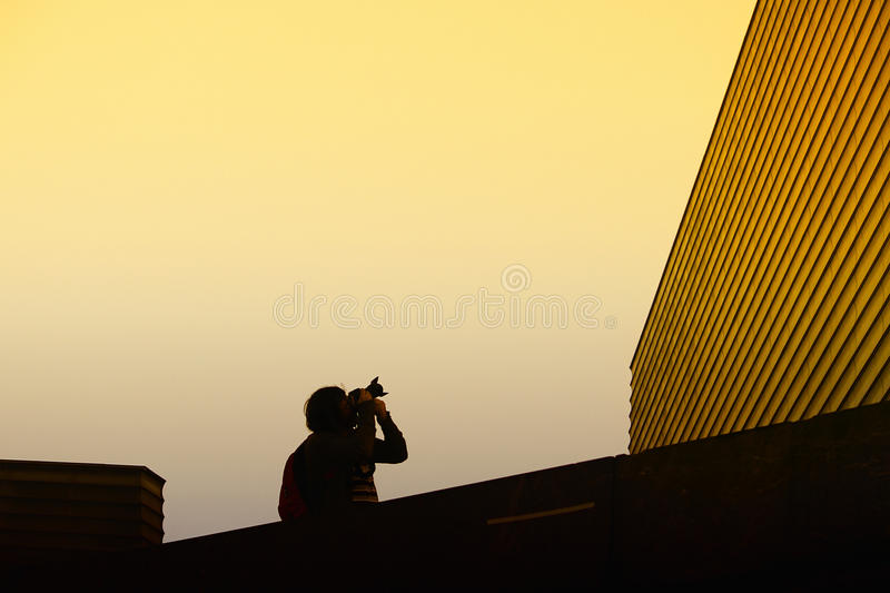 Photographer and architecture royalty free stock photo