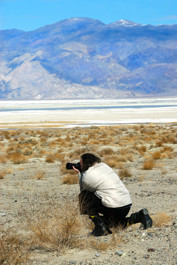 Free Photographer At Death Valley Royalty Free Stock Images - 2139459