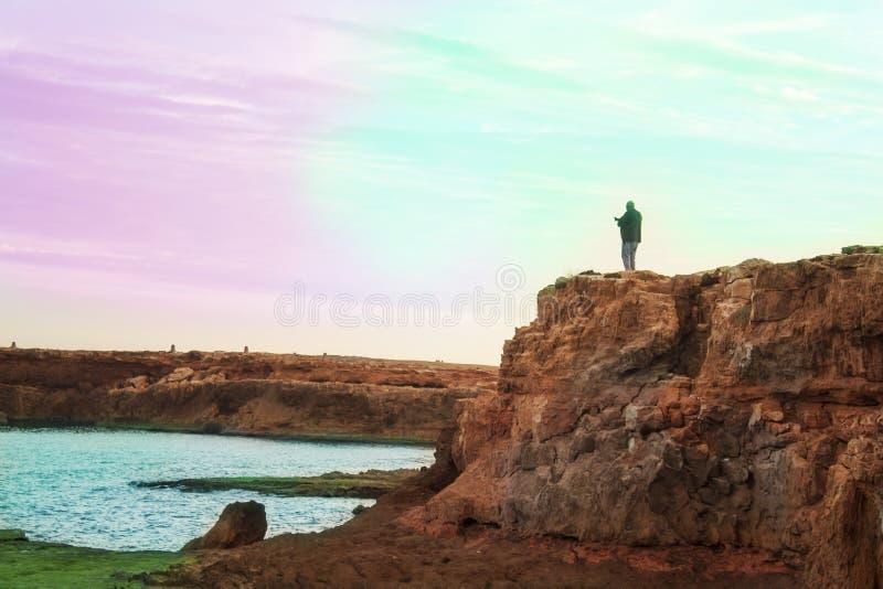 A photographer on the beach. royalty free stock photos