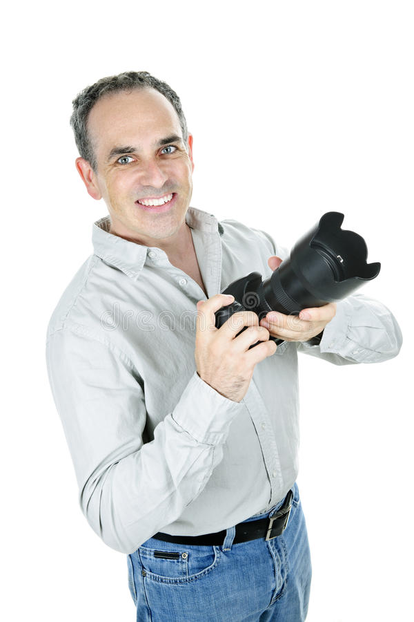Download Photographer with camera stock image. Image of mature - 16755965