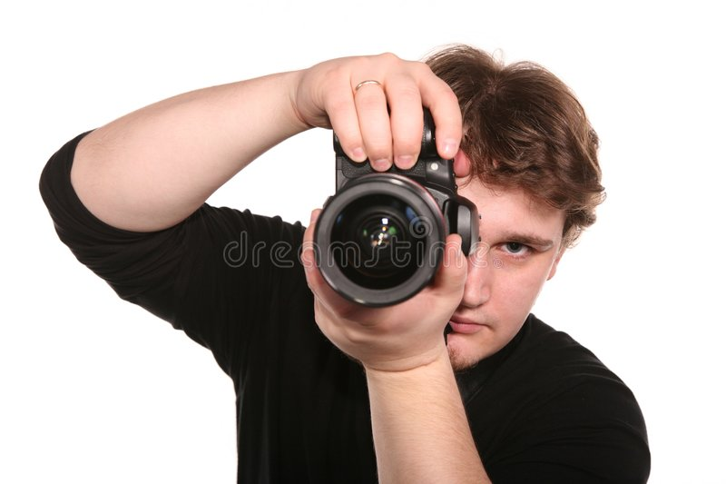 Photographer with camera 2 royalty free stock photography