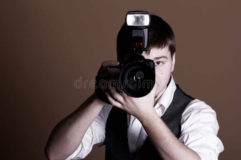 Download Photographer with camera stock image. Image of hobby - 22857007