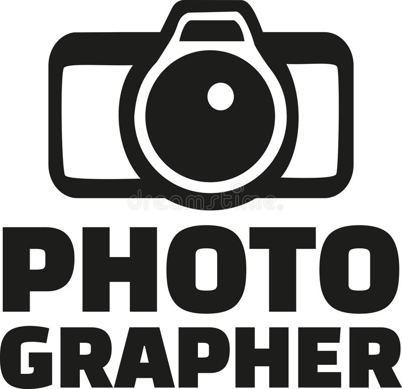 Photographer with camera. Occupation vector royalty free illustration
