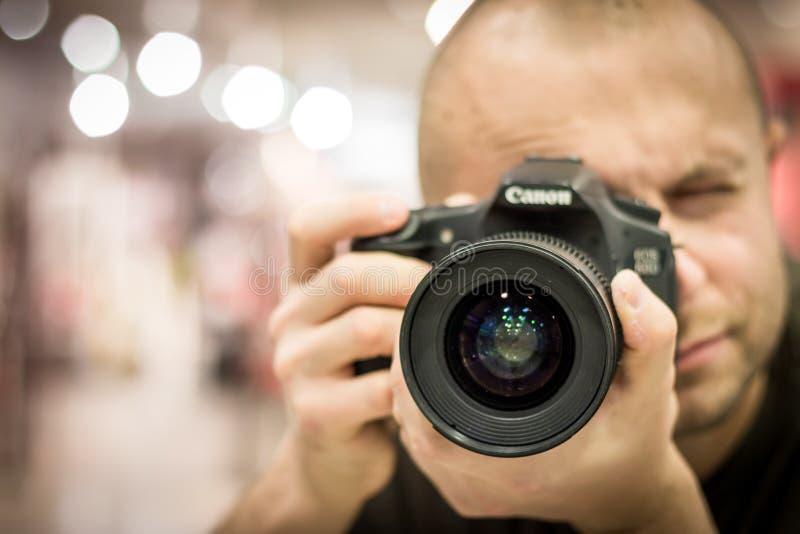 Photographer, Camera, Single Lens Reflex Camera, Cameras & Optics royalty free stock images