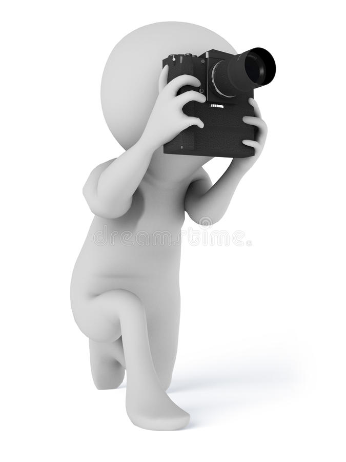 Photographer camera taking photographs royalty free illustration