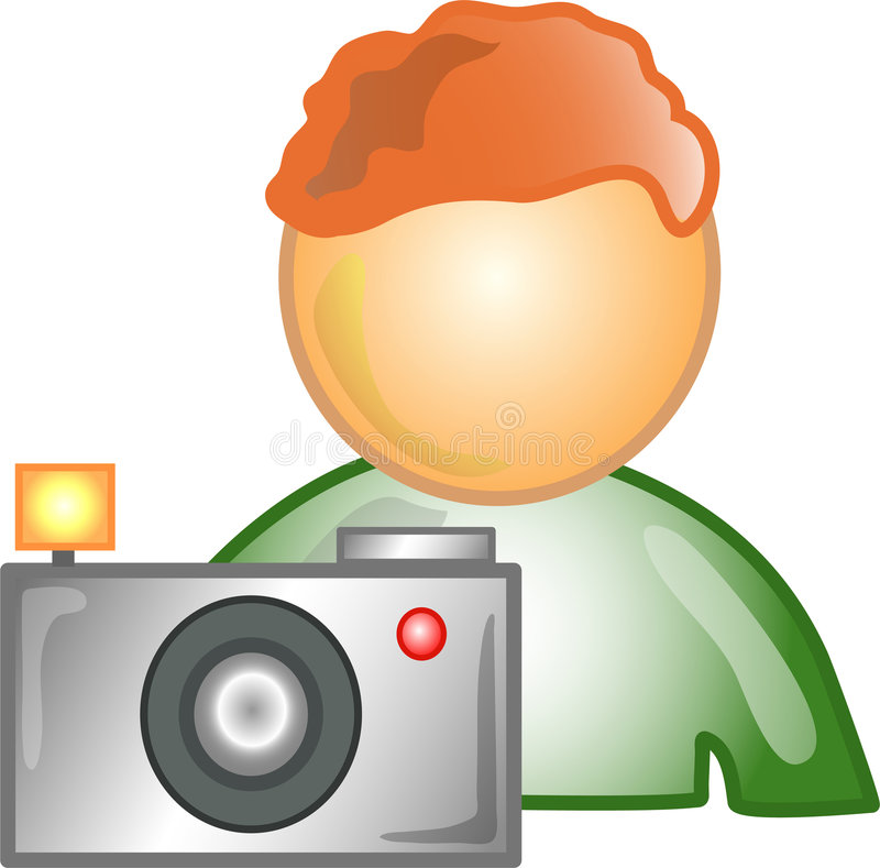 Photographer Career Icon Or Sy Royalty Free Stock Images