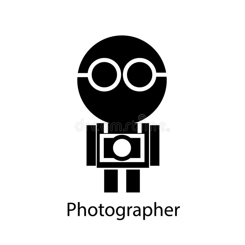 Photographer. Cute icon man in Photographer style stock illustration