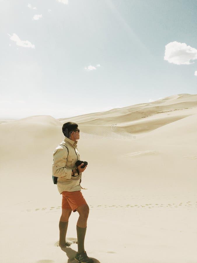 Photographer In Desert Free Public Domain Cc0 Image