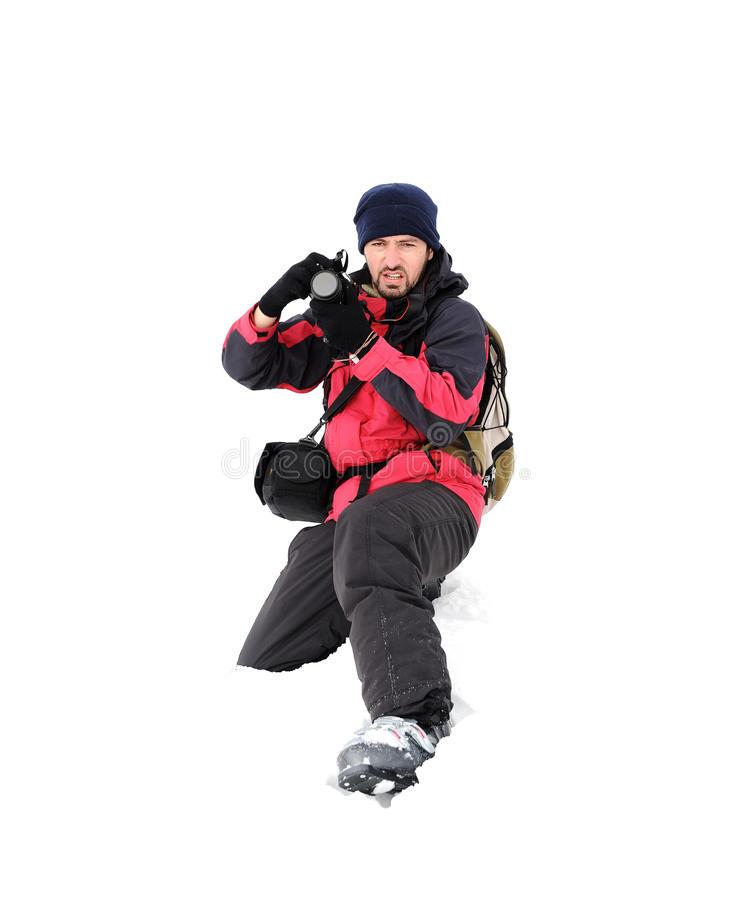 Download Photographer In Extreme Conditions Royalty Free Stock Image - Image: 22278626
