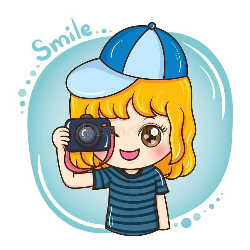 Photographer_female_vector_1 illustration de vecteur