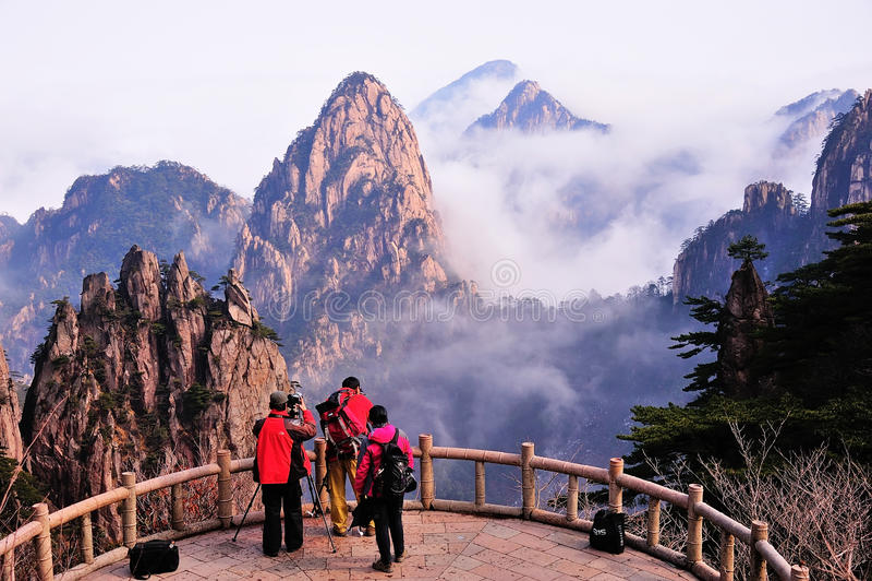 Photographer in Huangshan Mountain