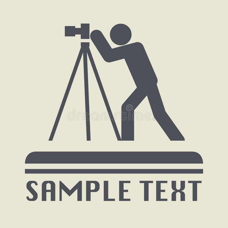 Photographer icon or sign. Vector illustration royalty free illustration