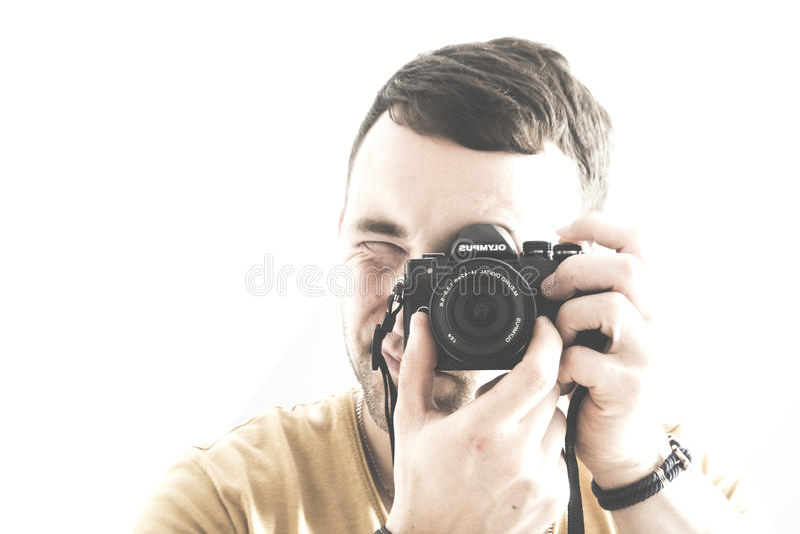 Photographer isolated royalty free stock image