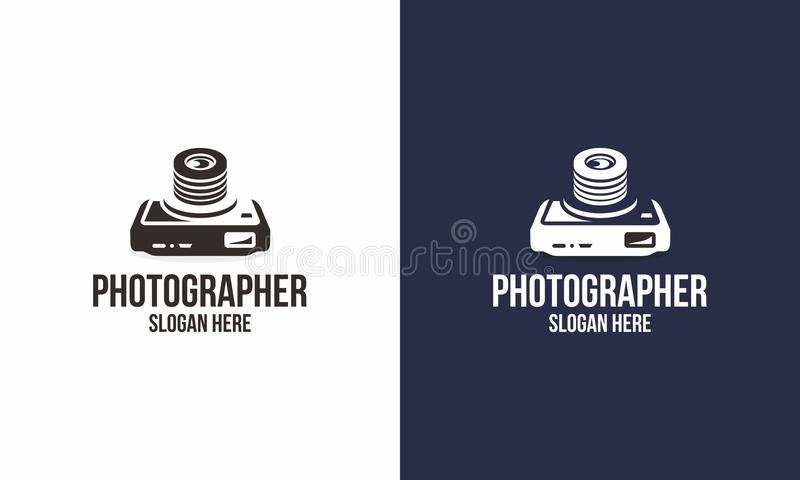 Photographer Logo stock illustration