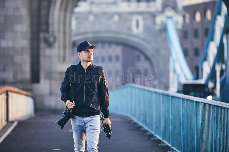 Photographer in the city stock photo