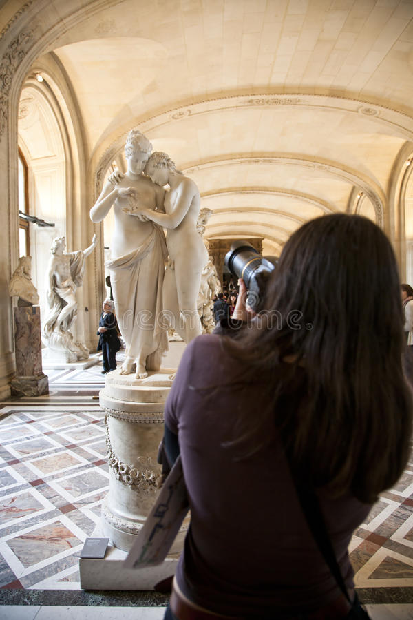 Photographer at louvre royalty free stock image
