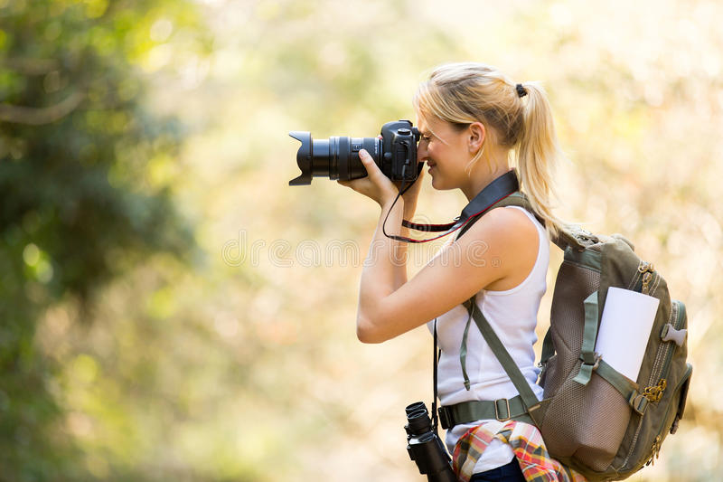 Photographer mountain valley royalty free stock images