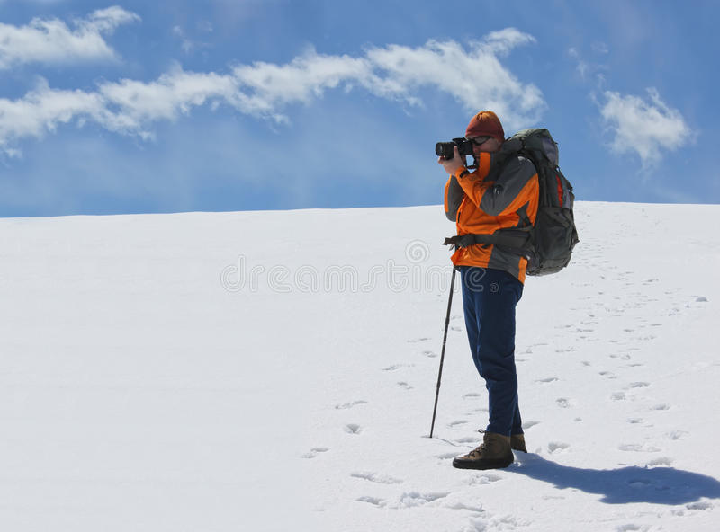 Photographer on Parang plateau royalty free stock photo