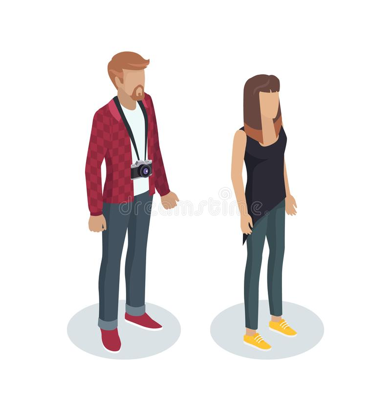 Photographer People Standing Vector Illustration vector illustration