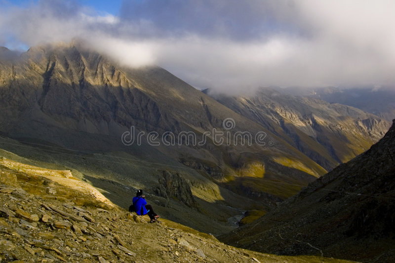 Photographer Photographing Mountains royalty free stock image