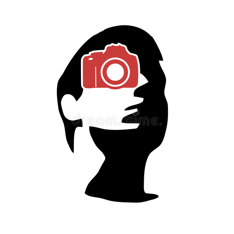 Photographer portfolio logo royalty free illustration