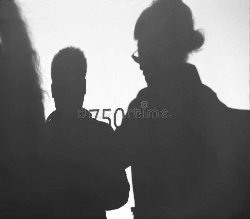 Photographer shadow on the wall. 2014 november, nikon d750 slr promotion held in xiamen city, china royalty free stock photos