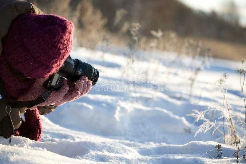 Photographer shooting royalty free stock image