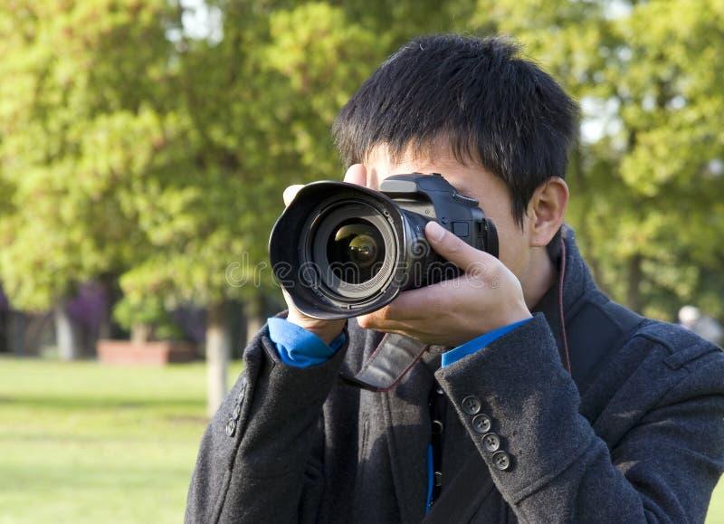 Photographer Shooting Photos Royalty Free Stock Image
