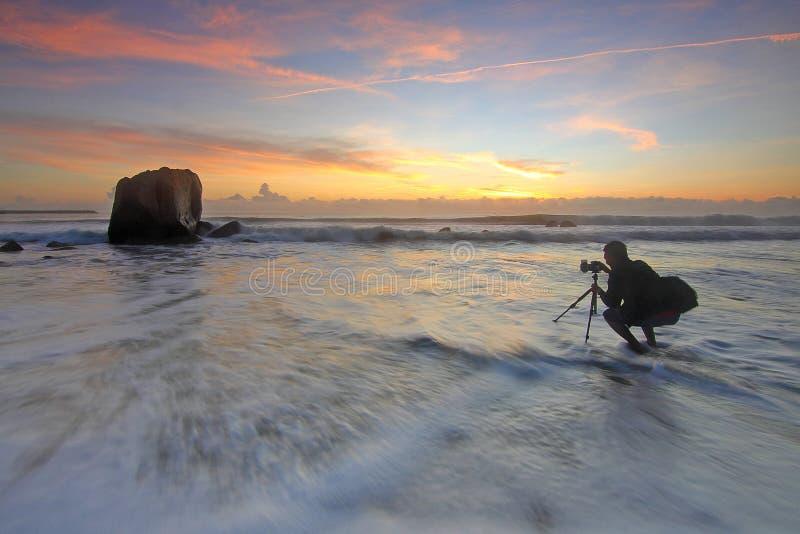 Photographer Shooting Sunset At The Sea Free Public Domain Cc0 Image