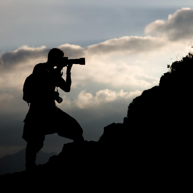 Free Photographer, Silhouette Royalty Free Stock Photo - 12565325