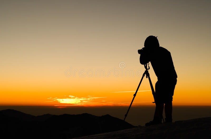 Download Photographer silhouette stock photo. Image of landscape - 12691460