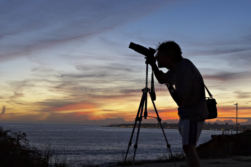 Download Photographer silhouette stock image. Image of light, cameras - 1423265