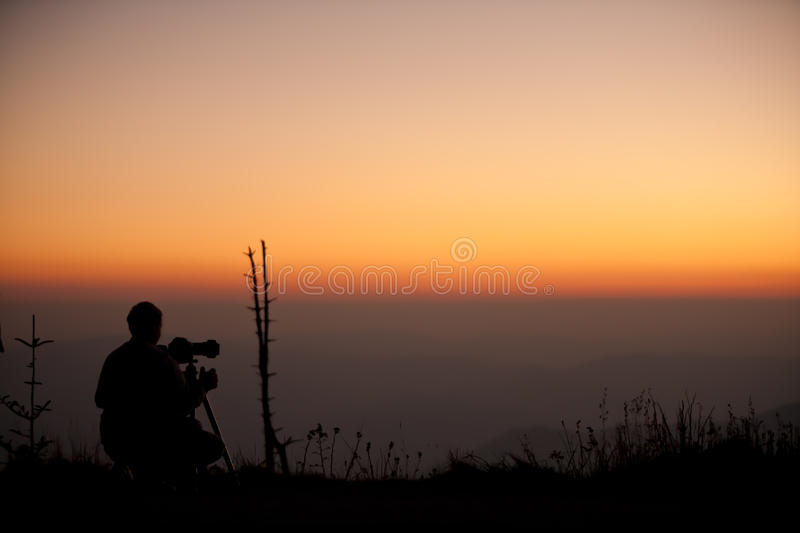 Download Photographer silhouette stock photo. Image of sunset - 15861406