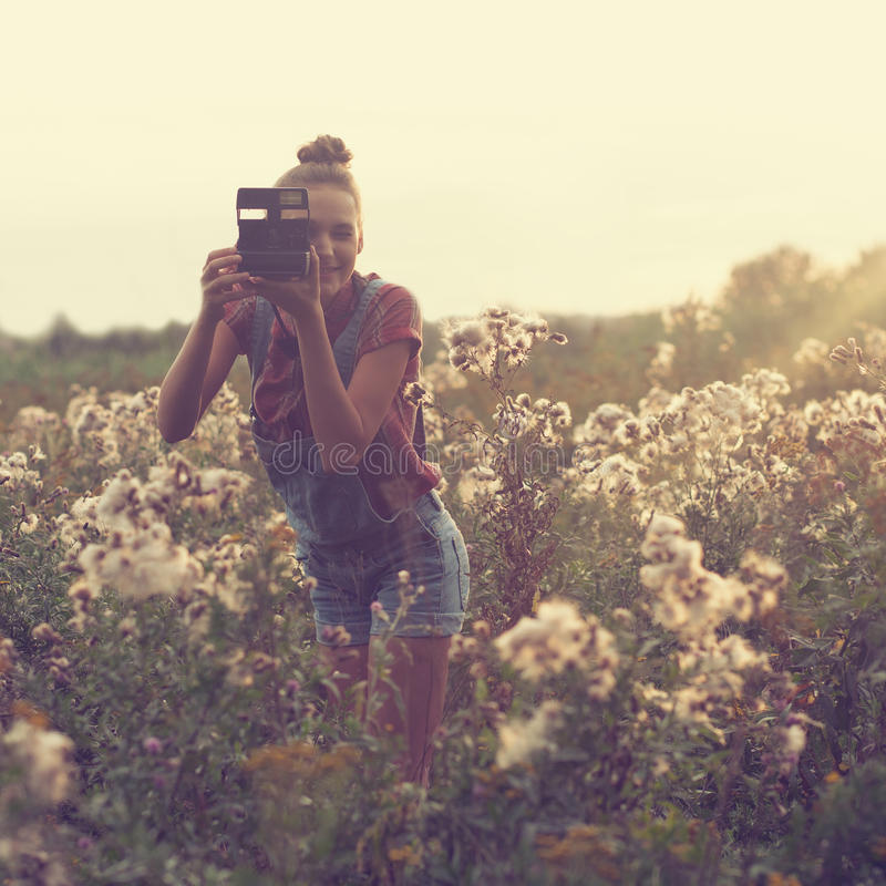 Photographer taking photo stock photography