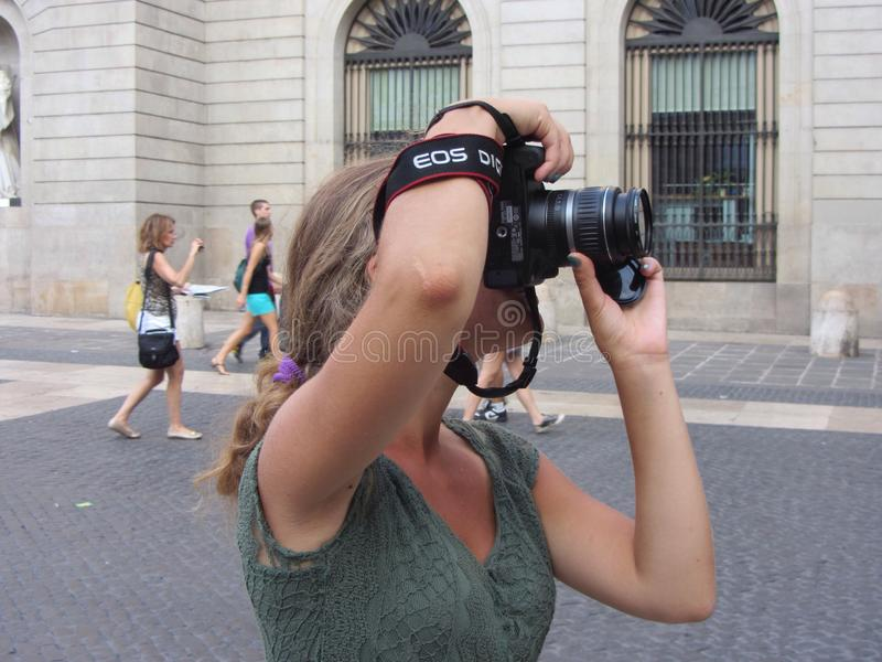 A photographer taking picture stock photography