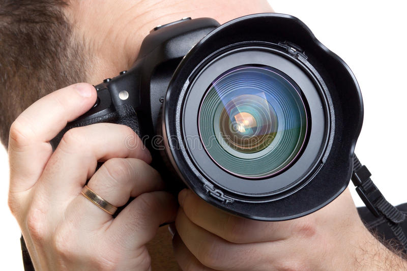 Download Photographer Taking Pictures With Digital Camera Stock Image - Image: 27230229