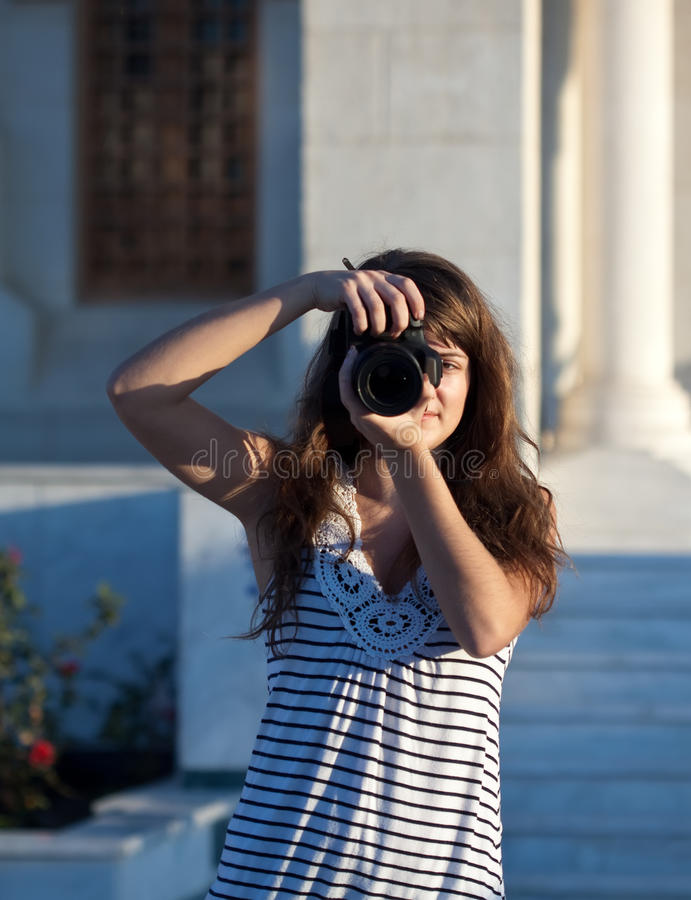 Download Photographer Tourist Takes Pictures Stock Photo - Image: 22817092
