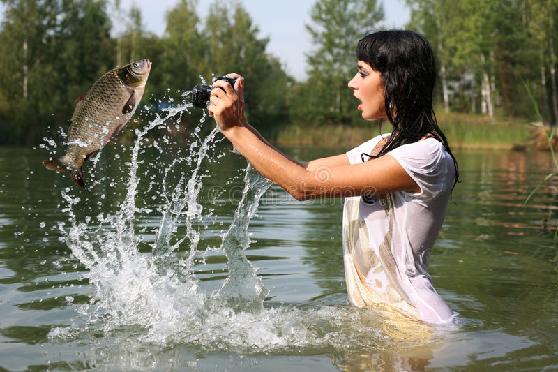 Photographer in water