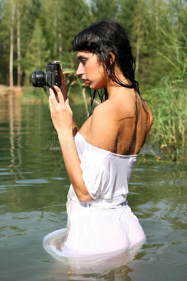 Download Photographer in water stock photo. Image of beautiful - 8262656