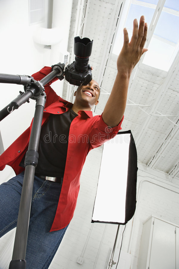 Photographer at work. royalty free stock images