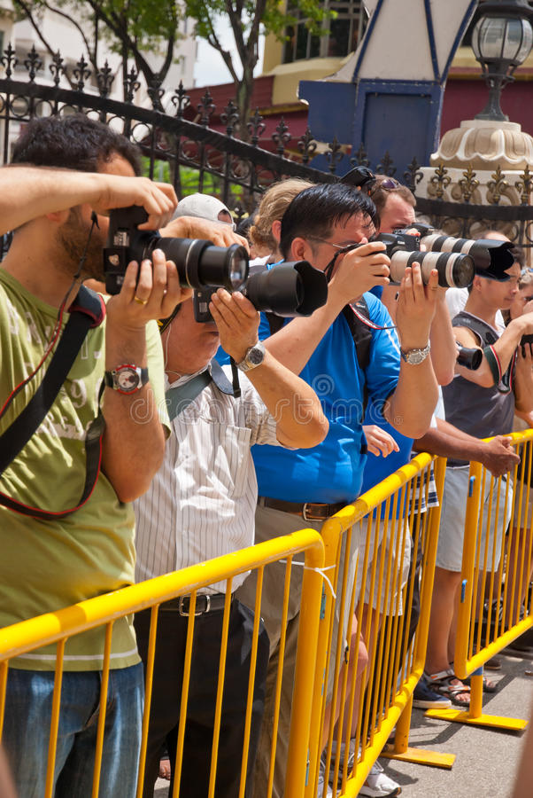 Photographers at event stock photos