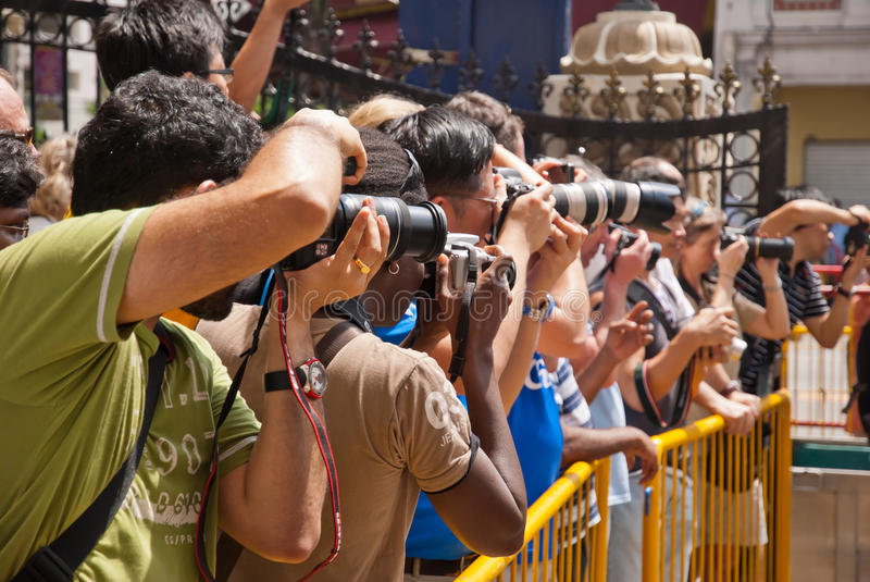 Photographers at event royalty free stock images