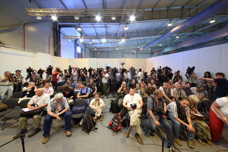 Photographers And Journalists At Second International Forum Editorial Image