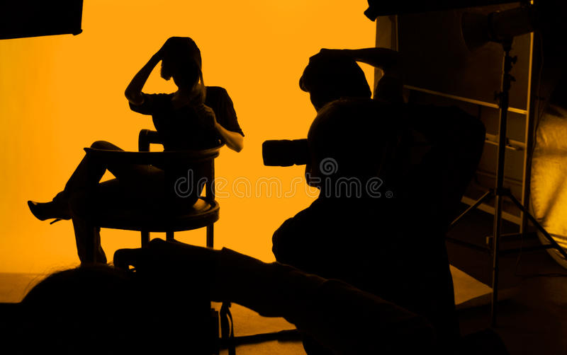 Photographers and model royalty free stock photography