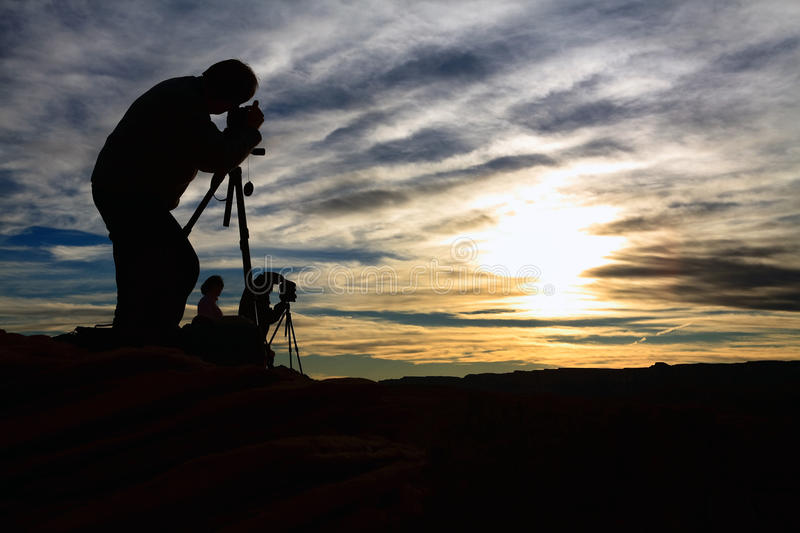Photographers working stock photography