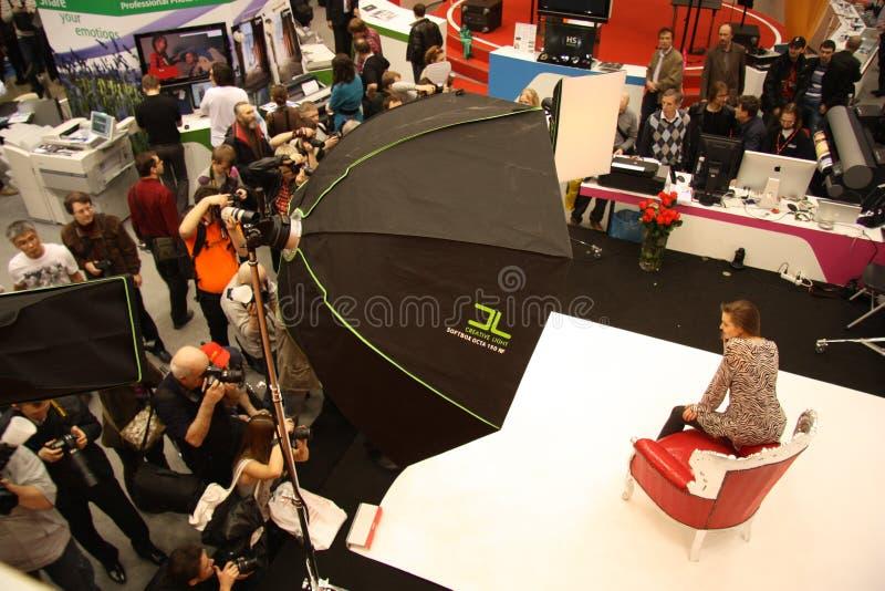 Photographes et modèle photo stock
