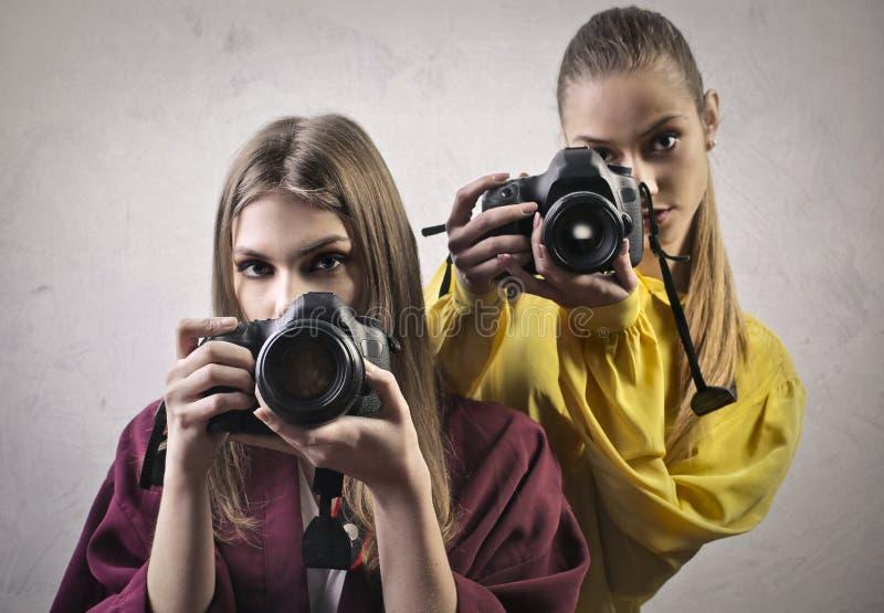 photographes jeunes photographie stock libre de droits