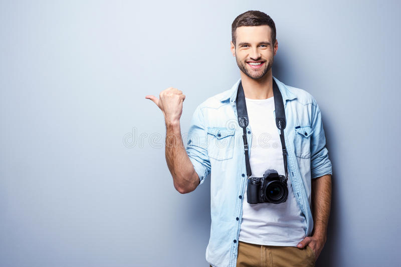 Photographes le choisissant image stock