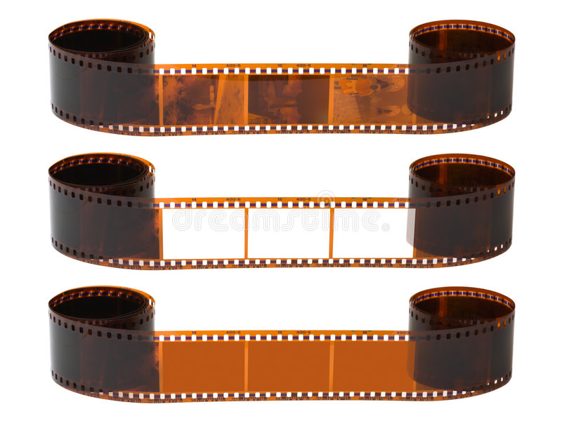 Photographic film. Isolated on white background royalty free stock photos