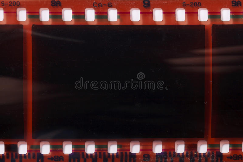 Photographic film negative. A photographic film negative stock photography